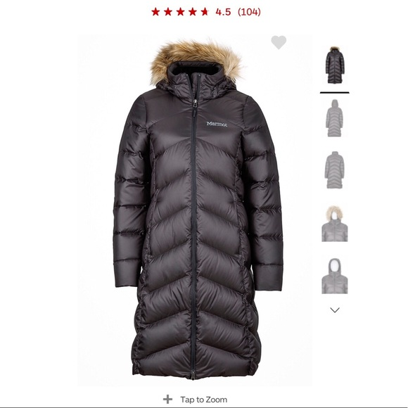 9b54ef83a7 Marmot Jackets & Coats | Black Long Womens Parka Jacket Winter ...